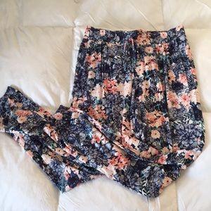 Pants - Floral Jogger Pants Size M